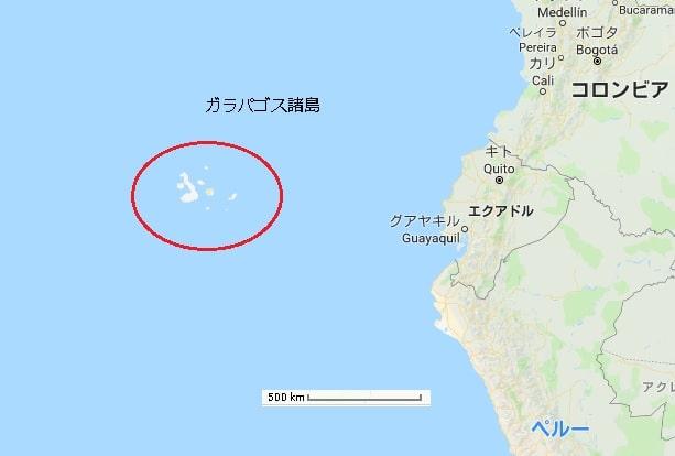 ガラパゴス諸島地図